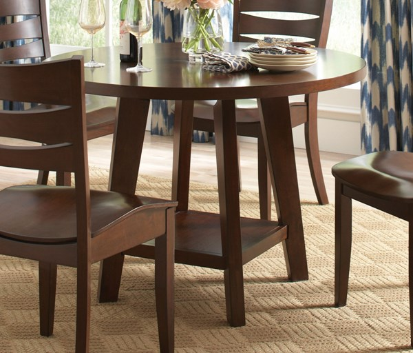 Byron Tropical Dark Brown Wood Dining Table CST-105631