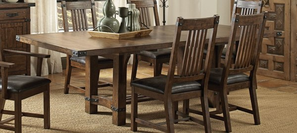 Padima Rustic Cognac Wood Extension Leaf Dining Table CST-105701