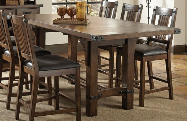 Padima Rustic Cognac Wood Counter Height Table CST-105708