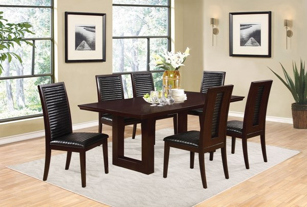 Chester Bitter Chocolate Wood Dining Room Set CST-10572-DR