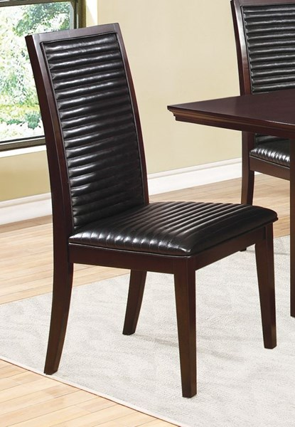 2 Chester Chocolate Wood Armless & Solid Back Chairs CST-105723