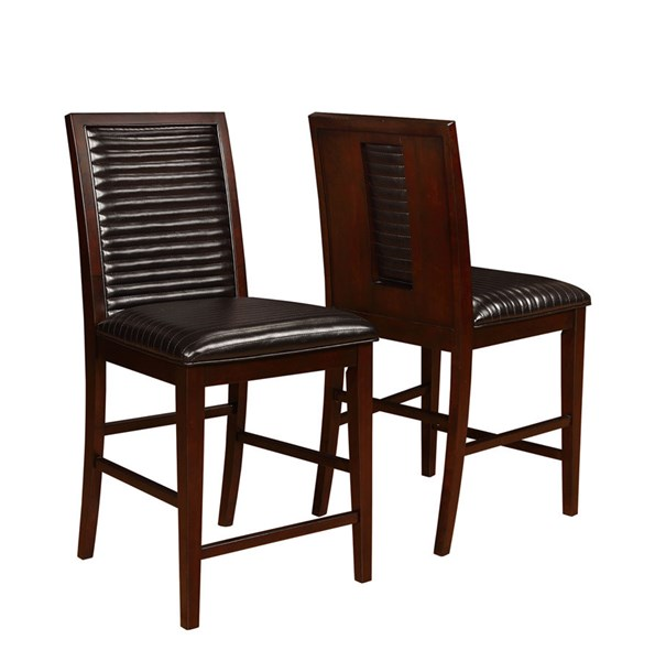 2 Chester Bitter Chocolate Wood Counter Height Chairs CST-105727