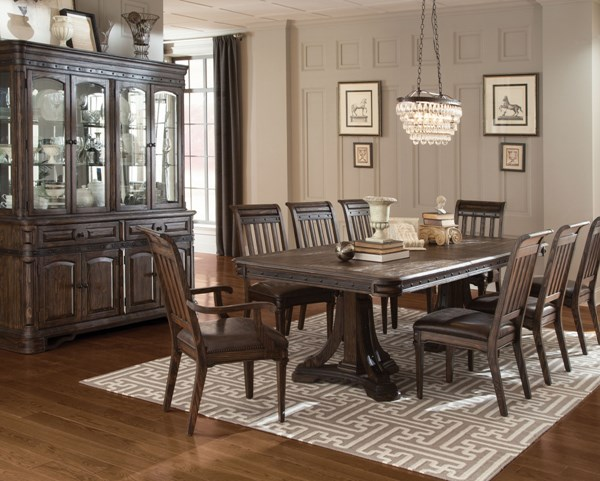 Carlsbad Faux Leather 9pc Dining Room Set w/Rectangle Dining Table CST-10573-DR-S2