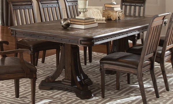 Carlsbad Vintage Espresso Wood Rectangle Dining Table CST-105731