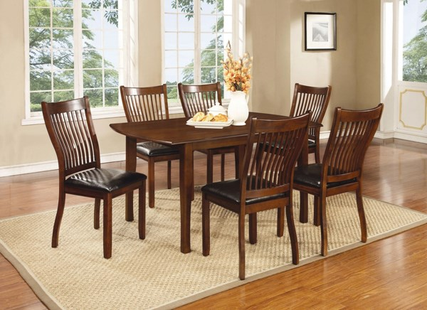 Sierra Brown Wood 7pc Dining Room Set W/Rectangle Dining Table CST-10575-DR-S2