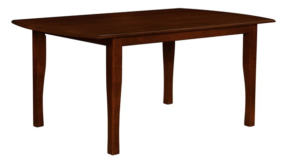 Sierra Brown Wood Rectangle Dining Table CST-105751