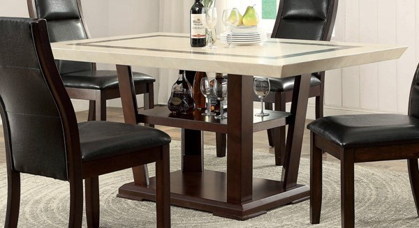 Lacombe Transitional Cappuccino Wood Dining Table CST-105841