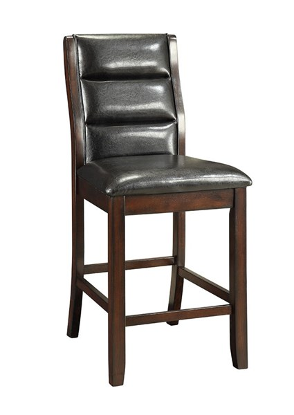 2 Lacombe Cappuccino Wood Leatherette Counter Height Chairs CST-105849