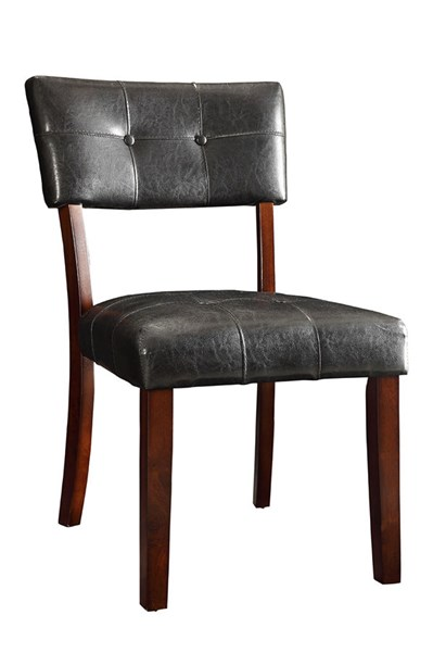 2 Beaux Cappuccino Wood Leatherette Dining Chairs CST-105852