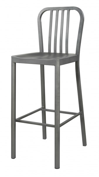 2 Light Gunmetal Saddle Seat Counter Height Chairs CST-105939