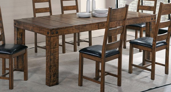 Murillo Rustic Honey Wood Extension Leaf Dining Table CST-106001
