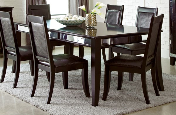 Middleton Cappuccino Wood Extension Leaf Dining Table CST-106161