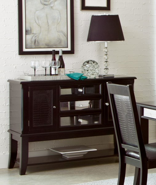 Middleton Cappuccino Wood Glass Doors Server CST-106165