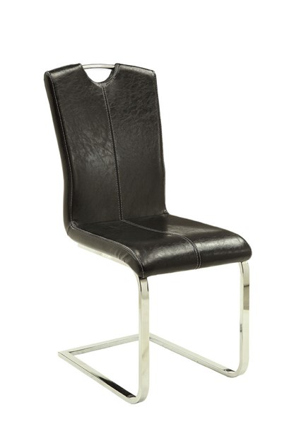 4 Bloomfield Cappuccino Leatherette Metal Dining Chairs CST-106233
