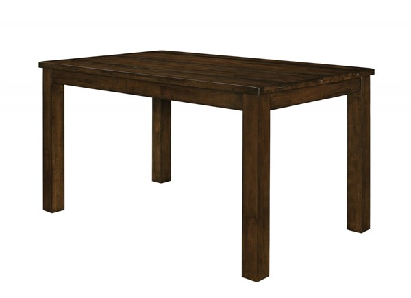 Wiltshire Rustic Pecan Wood Rough-Sawn Planks Counter Height Table CST-106368