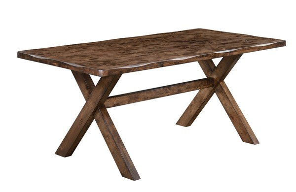 Alston Modern Knotty Nutmeg Grey Wood Dining Table CST-106381