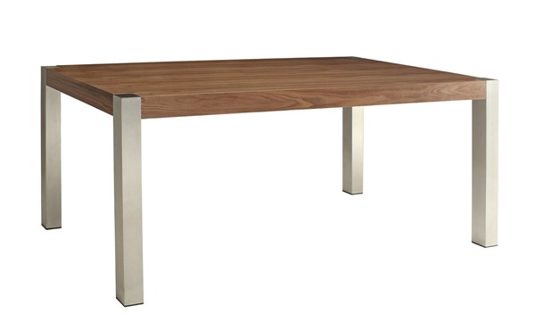 Faccini Medium Walnut Wood Solid Top Dining Table CST-106431