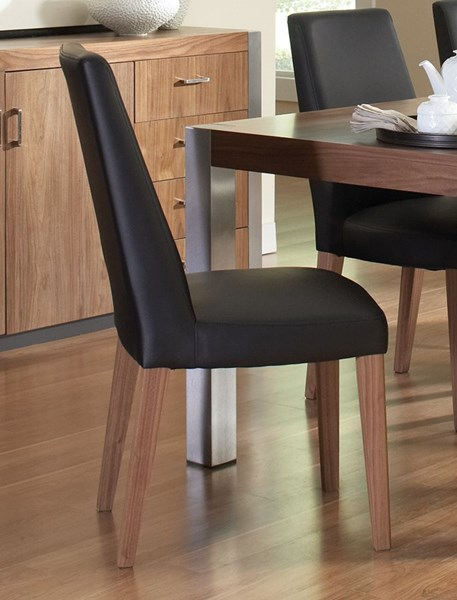 2 Faccini Medium Walnut Leatherette Wood Side Chairs CST-106432