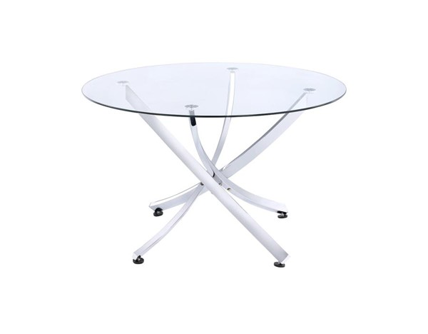 Coaster Furniture Chrome Round Dining Table CST-106440