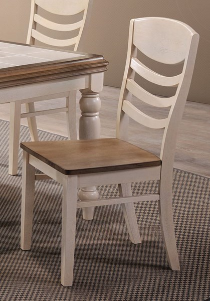 2 Allston Cottage Golden Brown White Wood Dining Chairs CST-106452