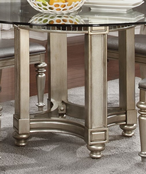 Danette Traditional Metallic Wood Dining Table Base CST-106470
