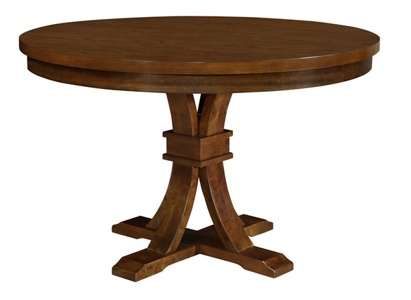 Abrams Modern Tuffle Wood Round Dining Table CST-106480