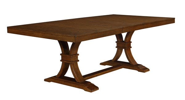 Abrams Transitional Truffle Wood Rectangular Dining Table CST-106481