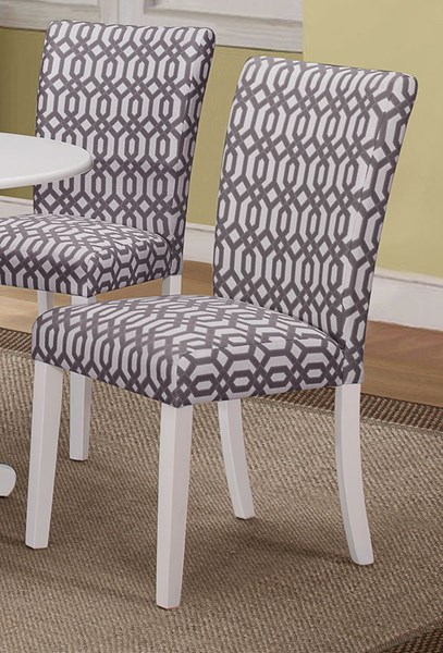 2 Allston White Fabric Wood Dining Chairs CST-106642