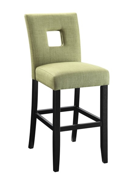 2 Andenne Green Upholstered Fabric Keyhole Back Counter Height Chairs CST-106673