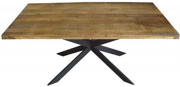 Galloway Natural Metal Wood Upscale Design Dining Table CST-106721