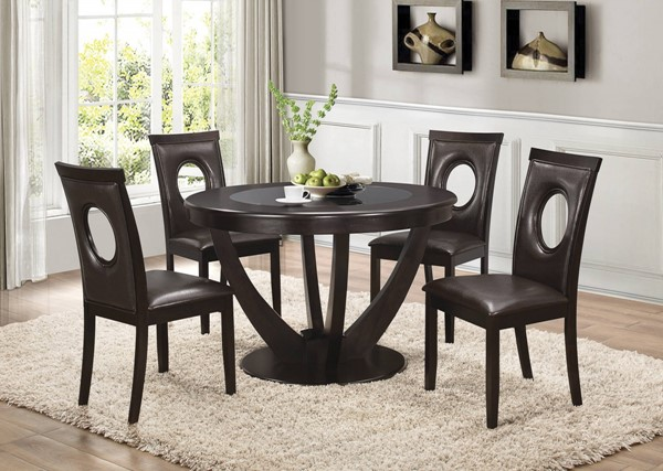 Stapleton Cappuccino Wood Leatherette 5pc Dining Room Set CST-10674-DR-S1
