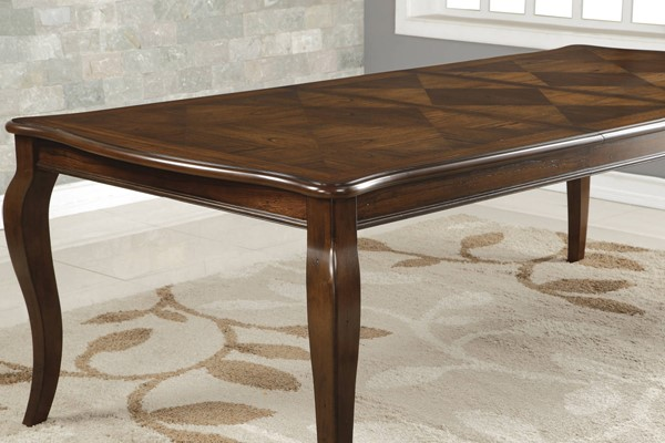 Williamsburg Traditional Chestnut Cabriole Wood Legs Dining Table CST-106811