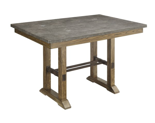 Willowbrook Rustic Ash Bluestone Laminate Top Wood Counter Table CST-106988