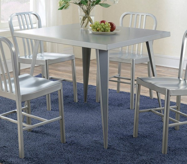Coaster Furniture Lipscomb Silver Dining Table CST-107371