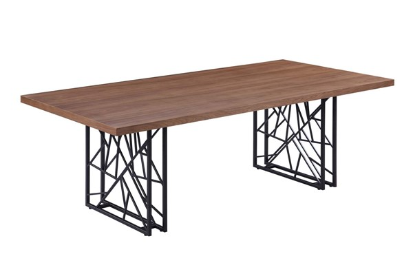 Coaster Furniture Chancelor Walnut Brown Powder Coating Dining Table CST-107381