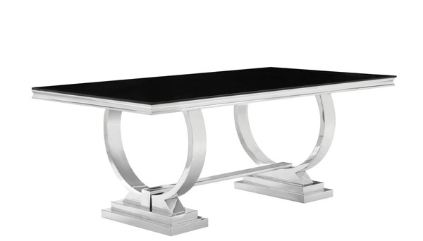 Coaster Furniture Antone Silver Dining Table CST-107871