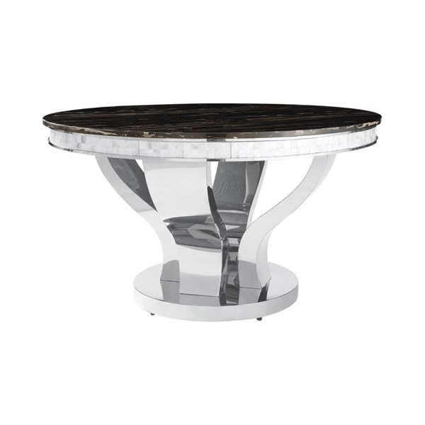 Coaster Furniture Anchorage Silver Round Dining Table CST-107891