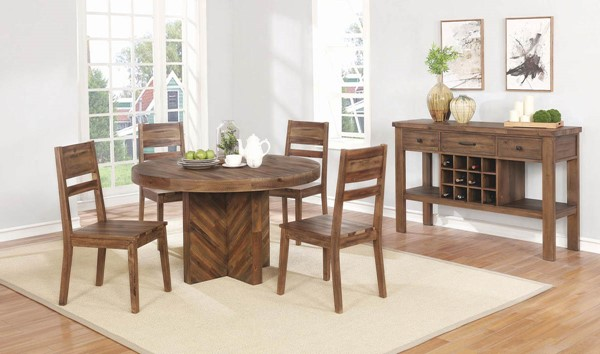 Coaster Furniture Tucson Natural 5pc Dining Room Set CST-108170-DR-S1