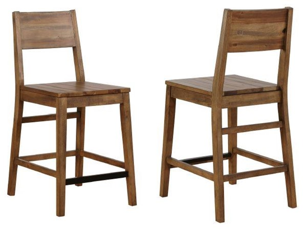 2 Coaster Furniture Barnes Natural Wood Counter Height Stools CST-108179