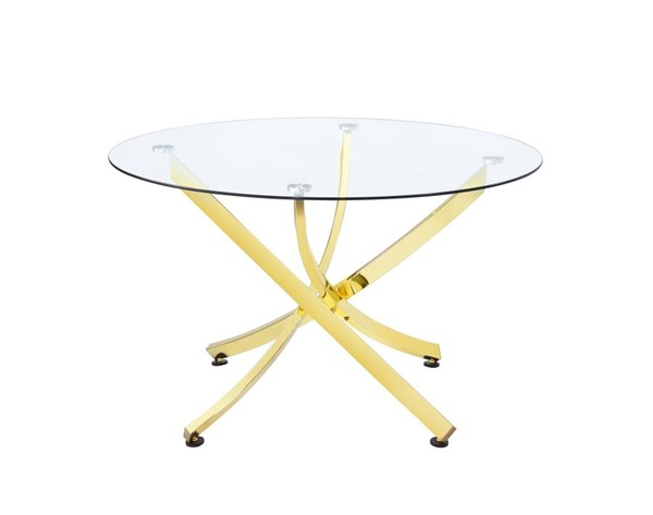 Coaster Furniture Chanel Gold Dining Table CST-108441