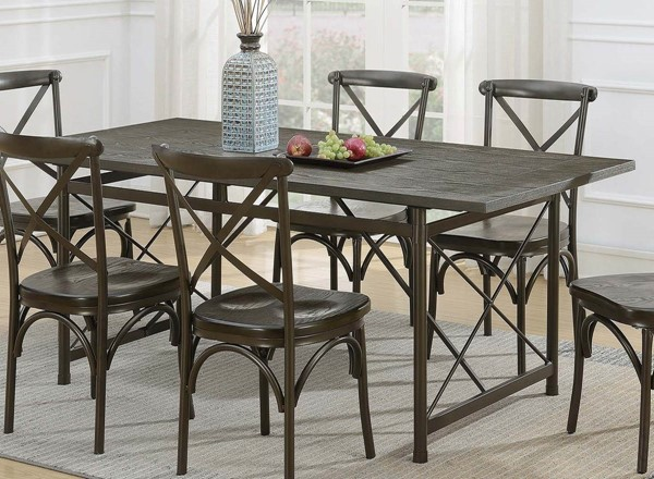 Coaster Furniture Hawthorne Brown Dining Table CST-108751