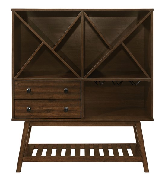 Coaster Furniture Desert Teak Wood 2 Drawers Wine Cabinet CST-109486