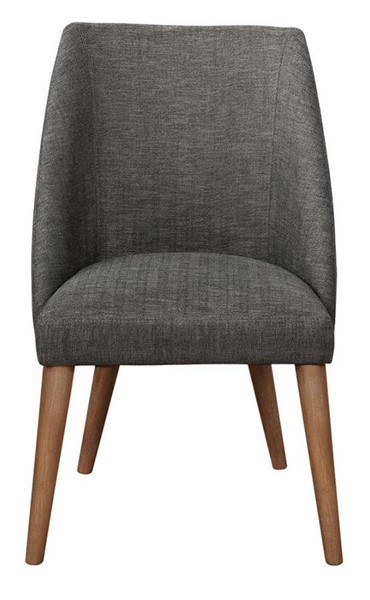 2 Coaster Furniture Beverly Dark Grey Fabric Dining Chairs CST-109532