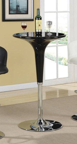 Contemporary Black Chrome Adjustable Bar Table CST-120325