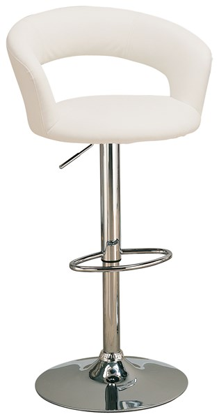 Modern Chrome White Metal Foot Rest Bar Stool CST-120347