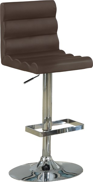 2 Contemporary Brown Metal Adjustable Bar Stools CST-120355