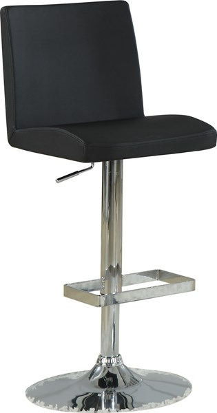 2 Contemporary Black Metal Adjustable Height Bar Stools CST-120357