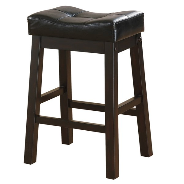 2 Coaster Furniture Black Transitional Counter Height Stools CST-120519