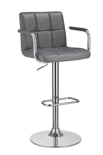 Contemporary Grey Fabric Adjustable Bar Stool CST-121096