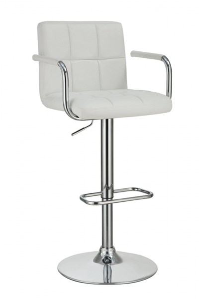 Contemporary White Fabric Adjustable Bar Stool CST-121097